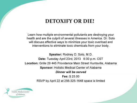 Detoxify or Die Seminar Coming Up Tuesday Night!!!